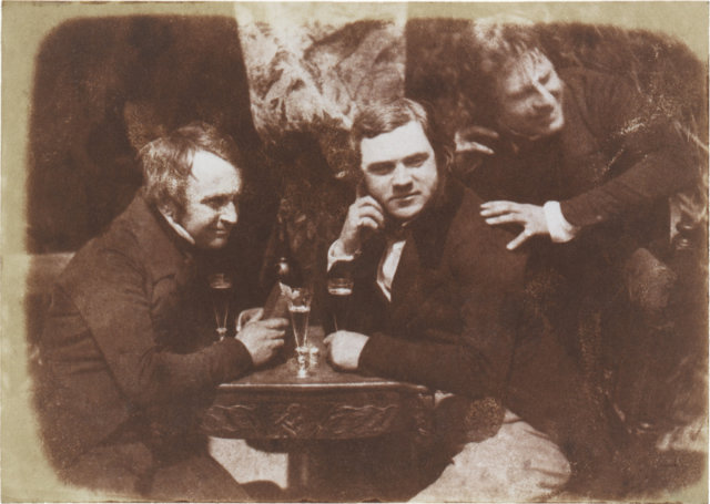1844 People drinking ale. Octavius Hill James Ballantine & Dr George Bell