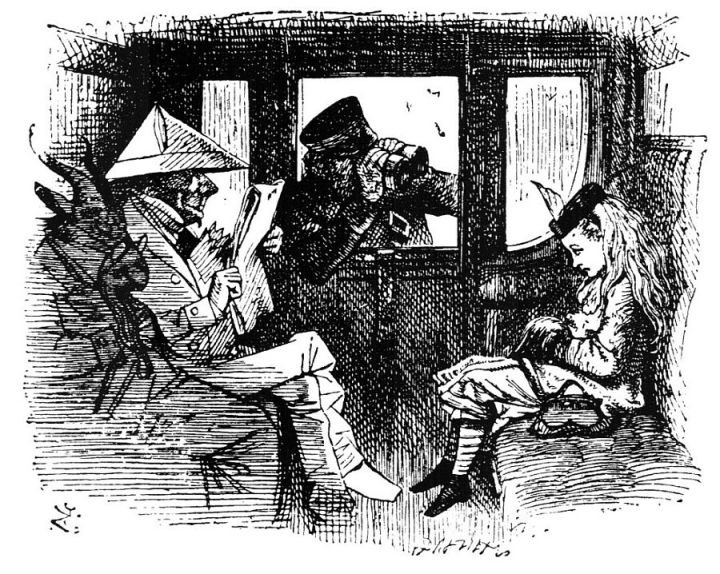 John Tenniel illustration for Through the Looking-Glass, and What Alice Found There