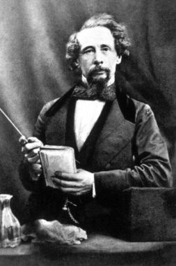 Charles Dickens at a reading