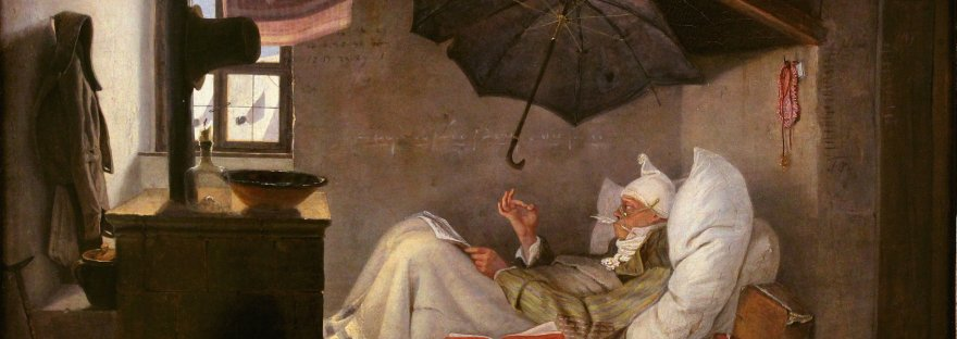 Carl Spitzweg (1808 –1885). The Poor Poet. Der Arme Poet.