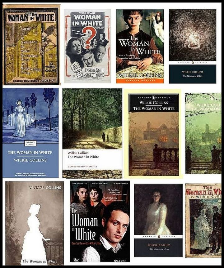 Book covers of the novel The Woman in White