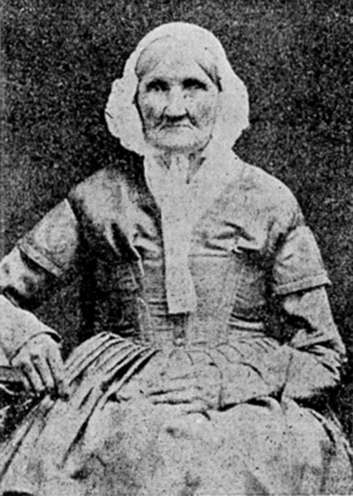 1840 Photograph of Hannah Stilley, born in the 1746. Daguerreotype