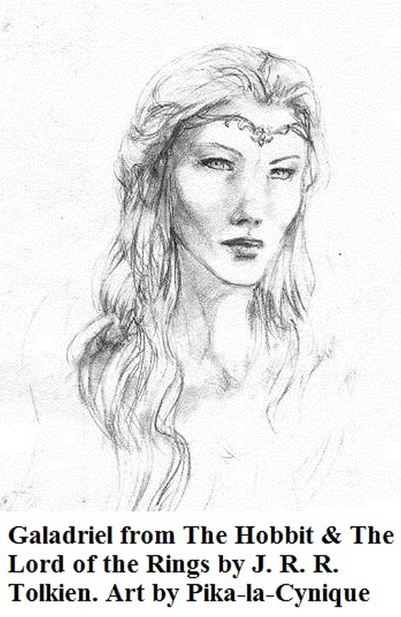 Galadriel portrait, sketch by Pika-la-Cynique (Hobbit)_18