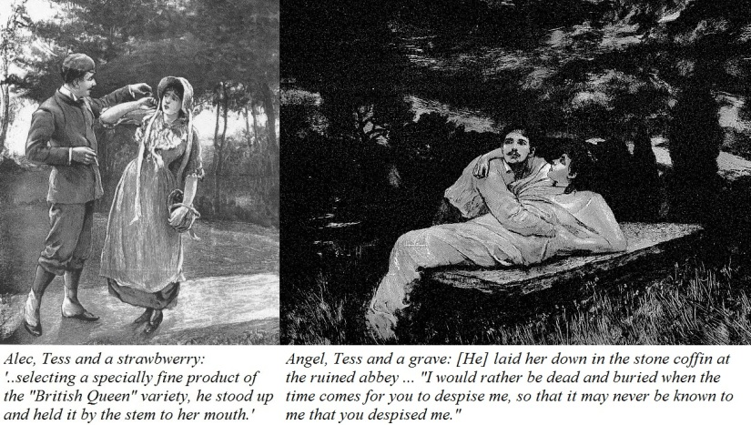 worst couples in literature angel tess and alec tess from illustrations from early additions of tess of the d urbervilles alec and tess plus