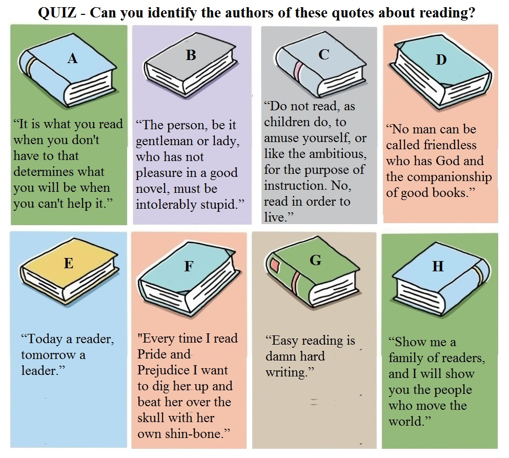 Quotes Quiz Quiz  Identify These Quotes About Reading  The Long Victorian