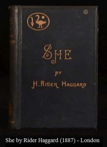 1887 edition of She by Rider Haggard