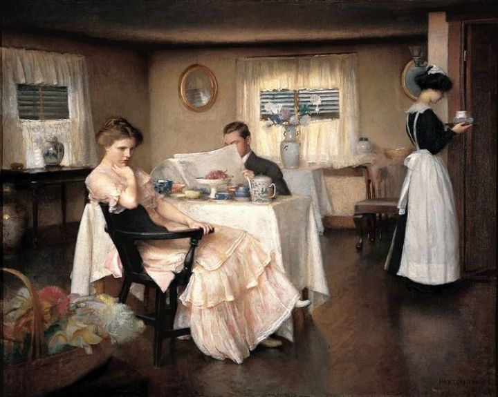 The Breakfast by American artist, William McGregor Paxton, c 1911