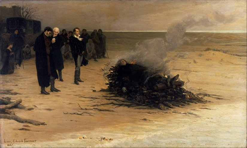 'The Funeral of Shelley', Louis Édouard Fournier (1889)