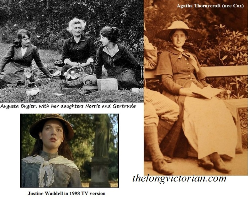 Three images - two photographs of real life people with a claim to have had Tess of the d'Urbervilles based on them. Also a photograph of actress Justine Waddell from a TV adaptation of the book