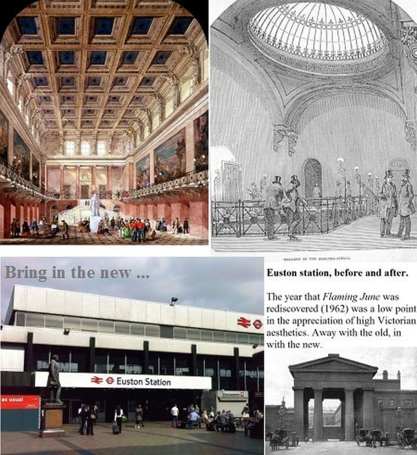 Euston station (UK) then and now