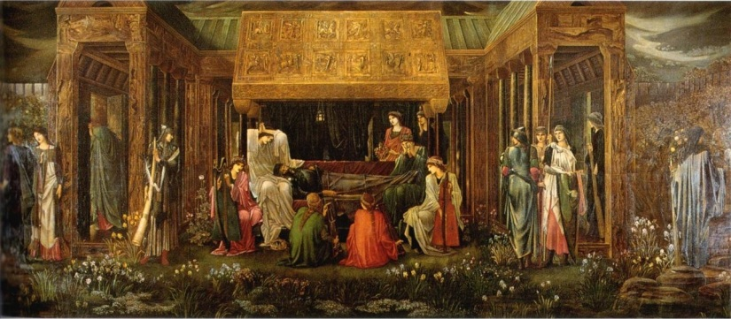 The Last Sleep of Arthur in Avalon by Sir Edward Burne-Jones.