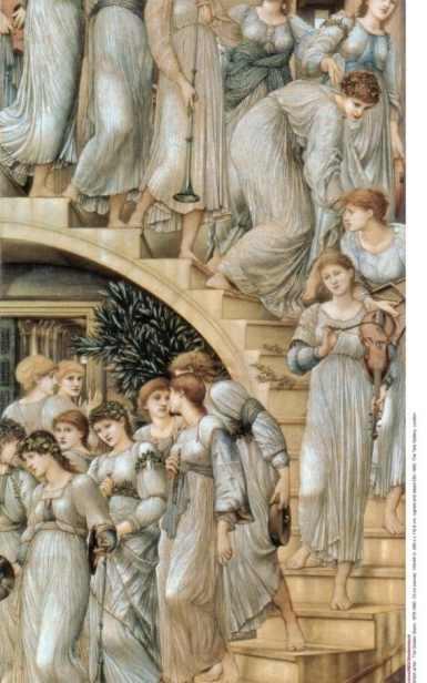 Edward Burne-Jones's The Golden Stairs (Tate Britain).