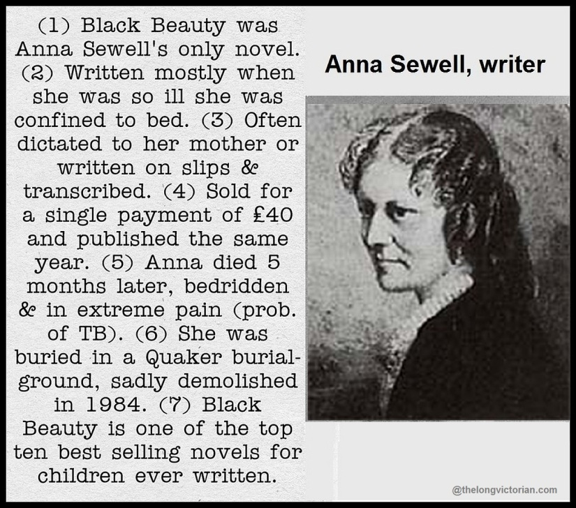 Anna Sewell photograpgh and mini biog.