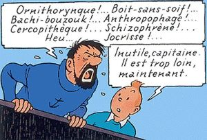 Herge's Captain Haddock and Tintin