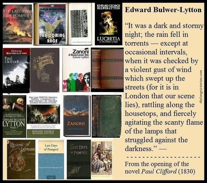 Graphic about Edward Bulwer-Lytton (1803-1873). English writer and politician