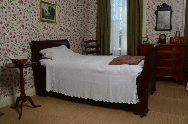 Emily Dickinson's bedroom at the Emily Dickinson Museum