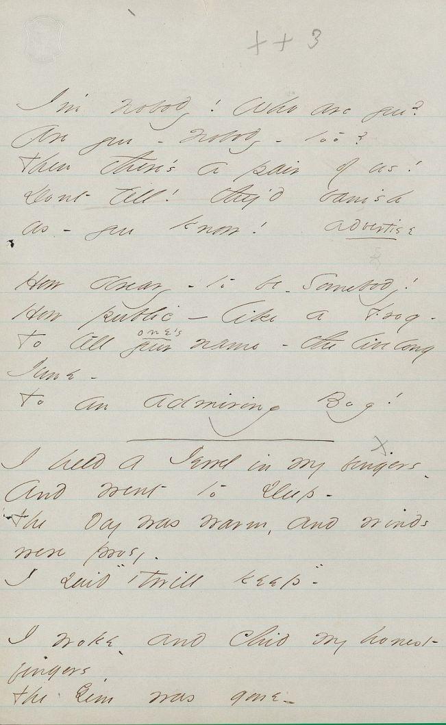 Emily Dickinson, Untitled (I'm Nobody! Who are you?) Poem