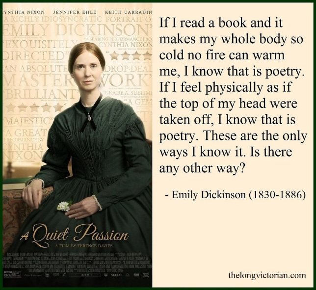 Image with Emily Dickinson quote and movie poster