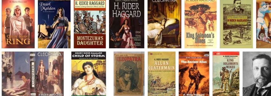 Rider Haggard books as background theme