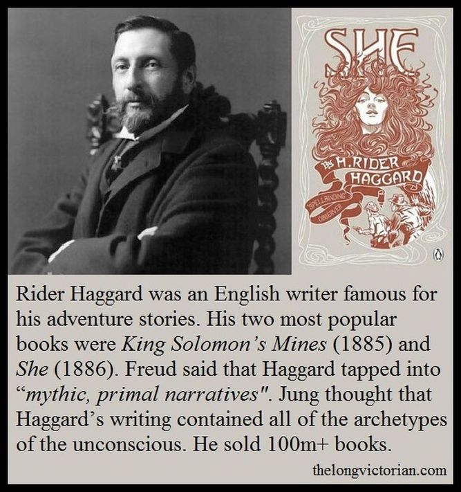 Image with Rider Haggard photo and mini biog