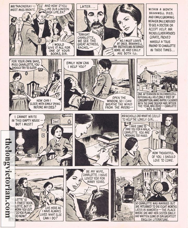 1950s graphic story of the Bronte family