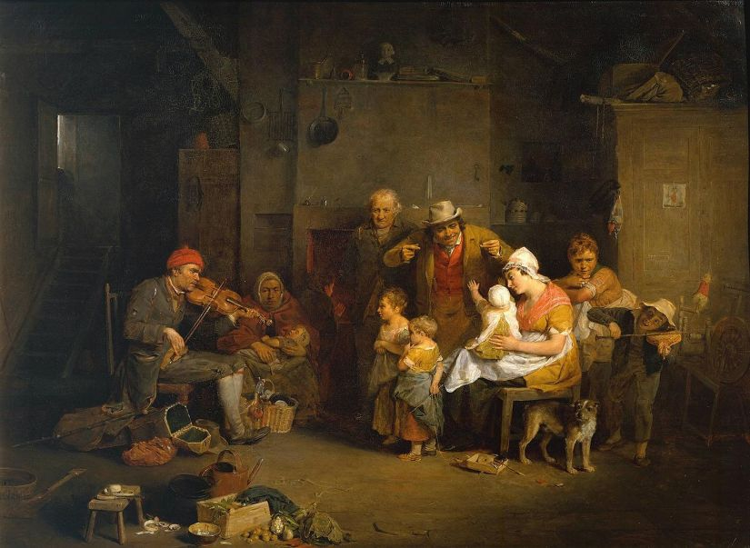 Painting 'The Blind Fiddler' 1806