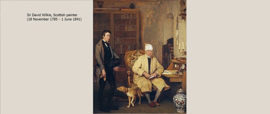 Artist David_Wilkie Painting The_Letter_of_Introduction