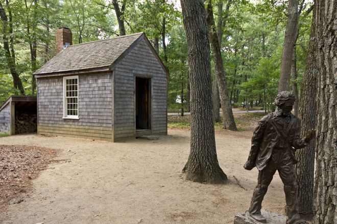 Hut of writer and thinking, Henry David Thoreau
