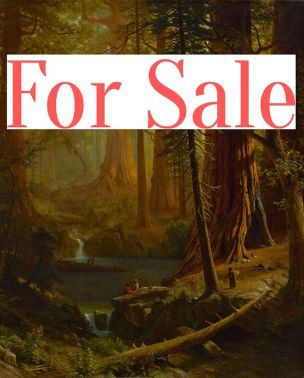 For sale. Giant Redwood Trees of California (1874) by Albert Bierstadt