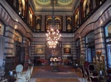 Photograph of the interior of the Pera Palace Hotel, Istanbul