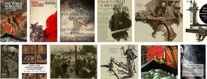 Cover images for the book when the world screamed