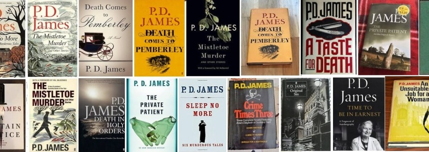 Book covers of the writer P D James