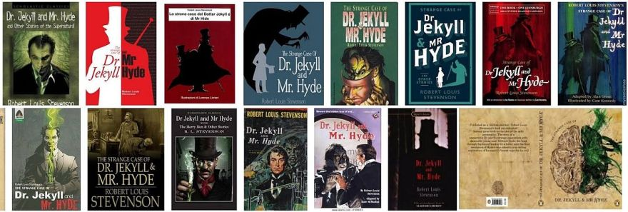 Book covers for Strange Case of Dr Jekyll and Mr Hyde