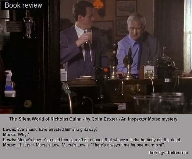 Photo of Morse and Lewis in pub for book review