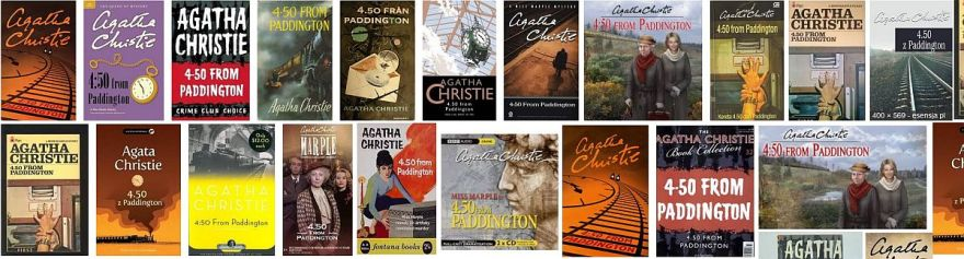 Book covers of of the novel 4.50 from Paddington for book review