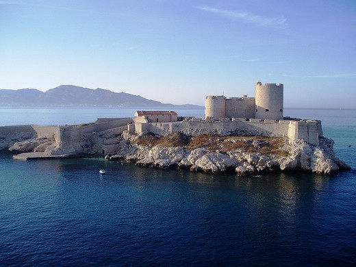 The real Chateau d'If, used in the novel, The Count of Monte Cristo.