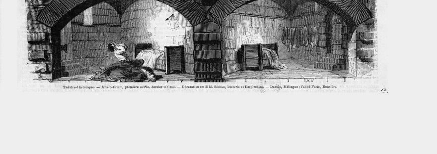 Premiere of Dumas' Monte Cristo at Théâtre Historique (1848)