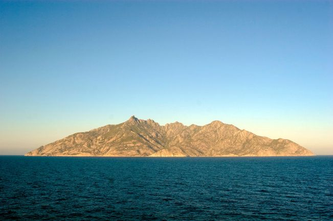 The island of Montecristo (Monte Cristo).