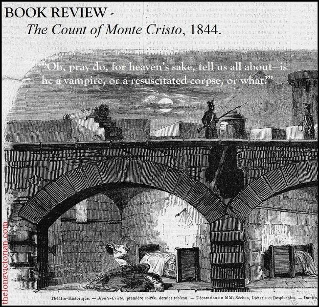 Image to promote a book review of The Count of Monte Cristo by Alexandre Dumas (1844).